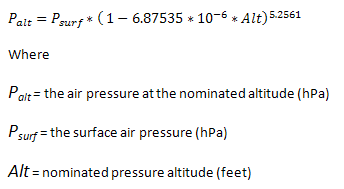 How to Convert Pressure and Altitude